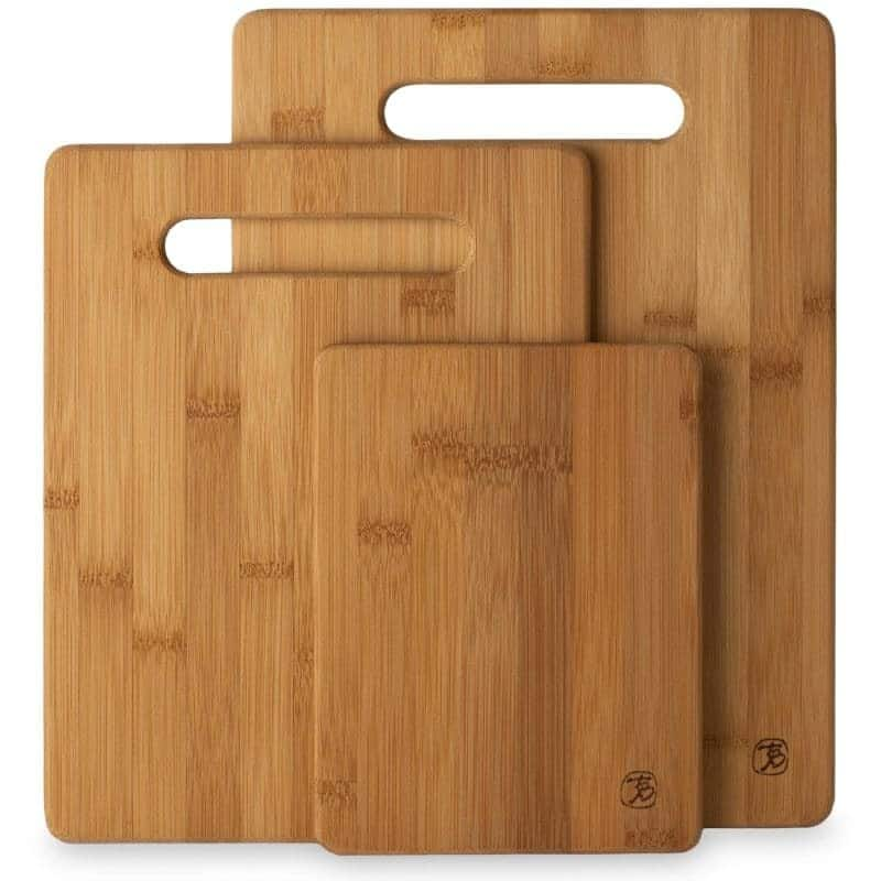 3 Piece Bamboo Cutting Board Set - $18