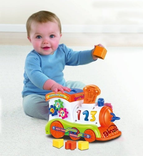 Battery Operated Bump and Go Learn Shape Sorter Abc Train - $16