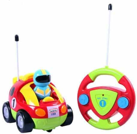 Cartoon Race Car Radio Control Toy for Toddlers - $12