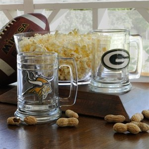 NFL Beer Mug with Team Logo and Personalized – $27
