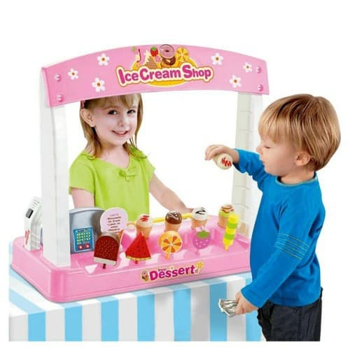 Ice Cream Shop with Pretend Play Desserts, Treats, and Cash Register $27