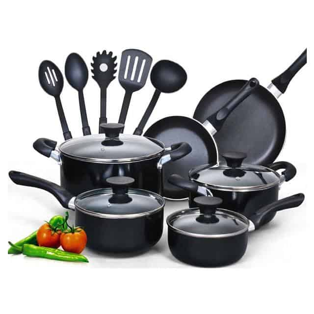 15 Piece Non stick Cookware Set - $54