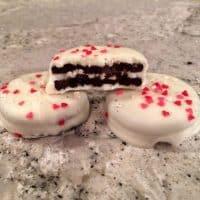 White Chocolate Valentine's Day Oreos