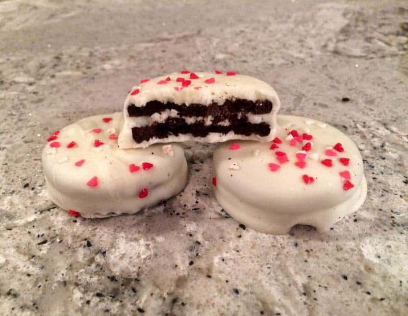 White Chocolate Valentine's Day Oreos