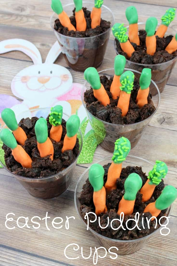 Easter Carrot Patch Pudding Cups