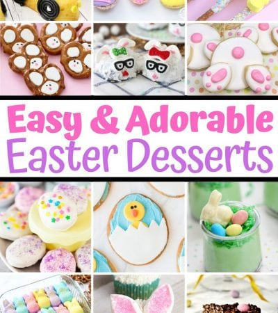 Over 30 adorable and easy Easter desserts for kids. These cute Easter dessert recipes include cupcakes, cookies, cakes, brownies, and more.
