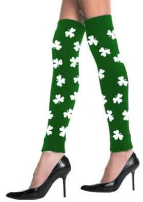 St. Patrick's Day All Over Shamrocks Leg Warmers