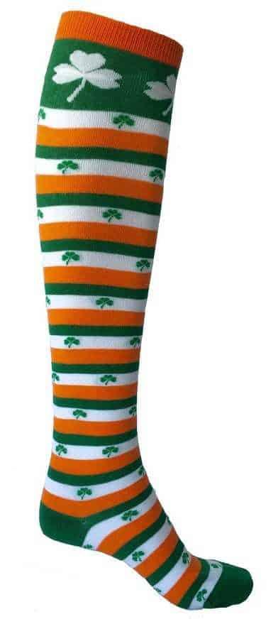 St. Patrick's Day Striped Knee Socks