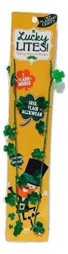 St. Patrick's Light Up Shamrock Necklace