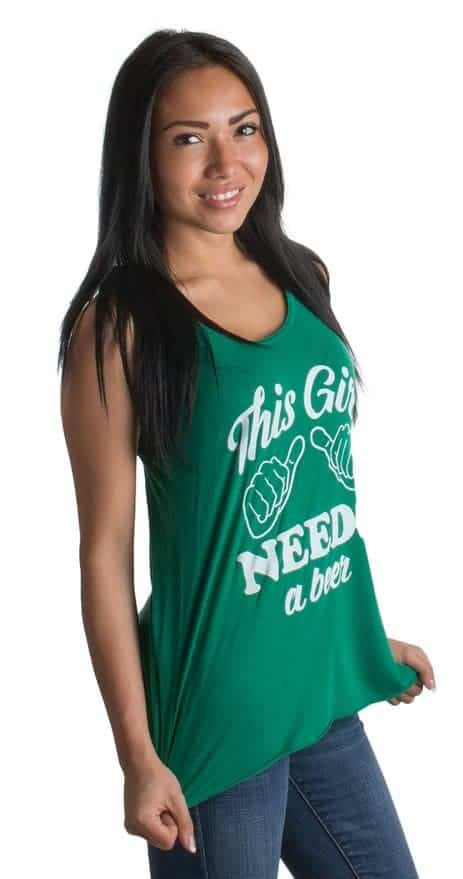 This Girl Needs a Beer St. Patrick's Day Tank Top