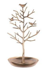 Antique Bird Tree Jewelry Display Stand