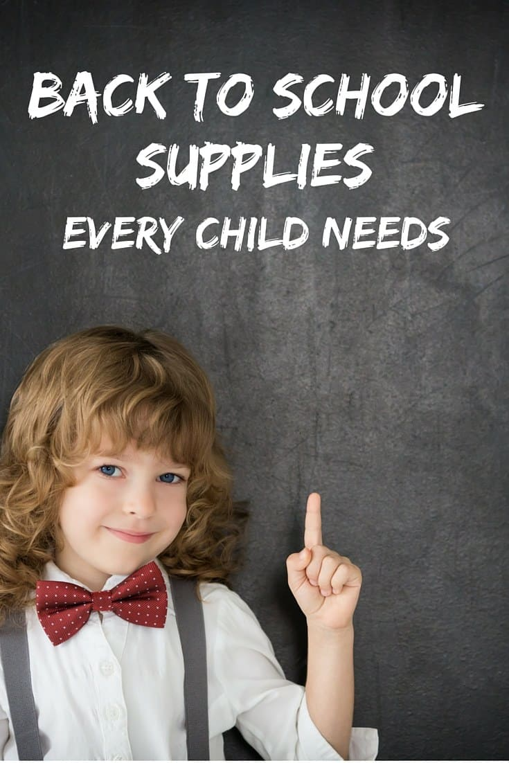 If you're making a back to school list, there are some school supplies you can always count on needing. Let's take a closer look items every child needs.