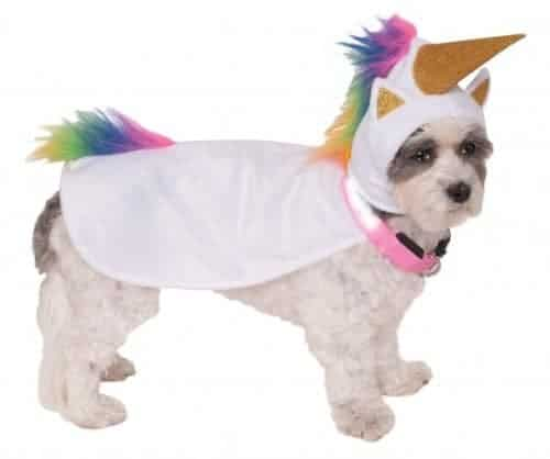 Unicorn Cape with Hood and Light-Up Collar Pet Costume