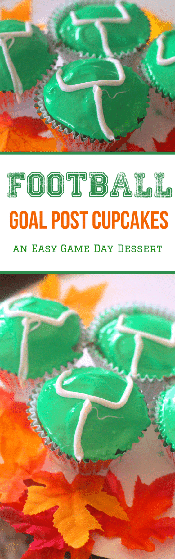 Game Day Food: Football Goal Post Cupcakes