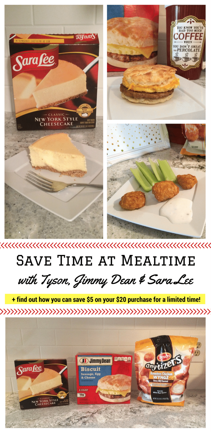 Save Time at Mealtime with Tyson, Jimmy Dean, and Sara Lee