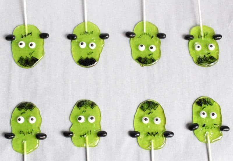 Frankenstein Halloween Suckers