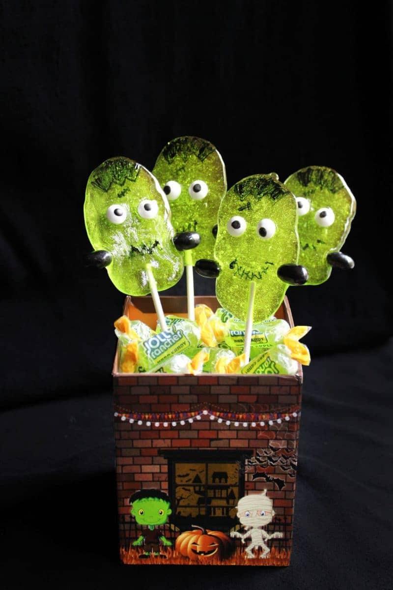 Super Cute Frankenstein Halloween Suckers