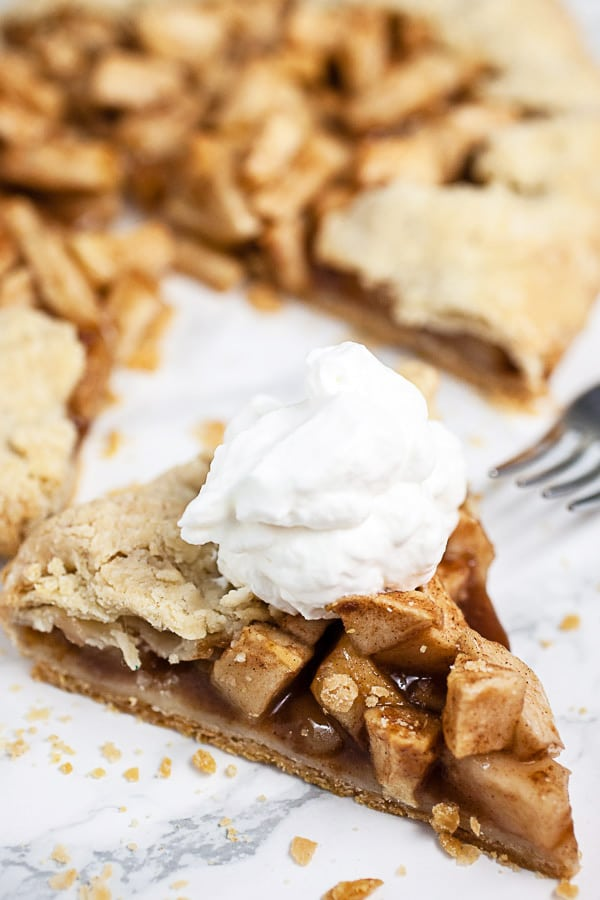 Apple Galette with Vanilla Whipped Cream