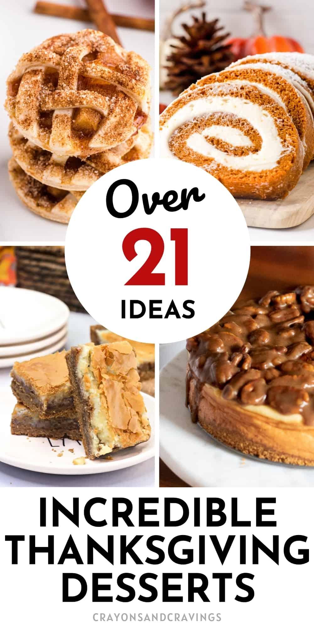 Over 21 Thanksgiving Dessert Ideas