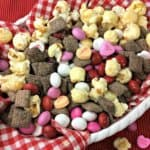 Valentine's Day Cherry Muddy Buddies Snack Mix