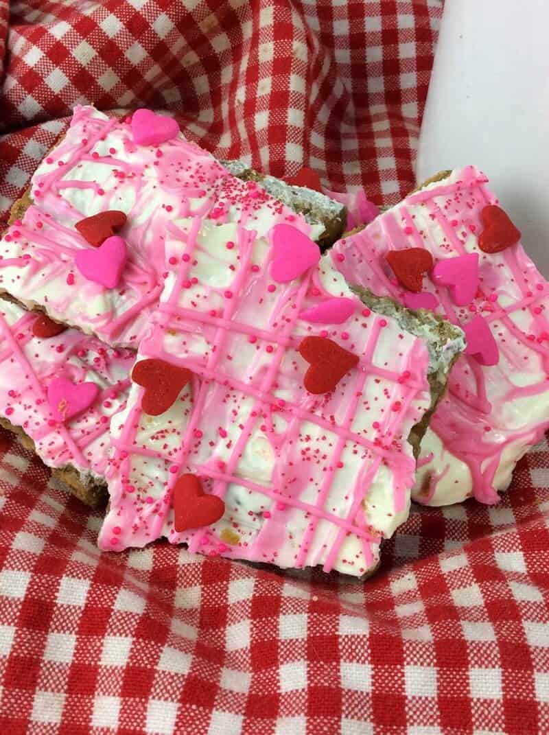 White Chocolate Valentine's Day Bark Candy