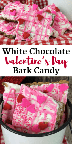 Although I like to call this sweet treat Valentine's Day Bark, others refer to it as Valentine's Day Crack due to how deliciously sweet and addicting it is.