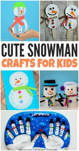 Looking for easy snowman crafts for kids to make this winter? These fun snowman craft ideas will the kids busy and give them a fun creative outlet.