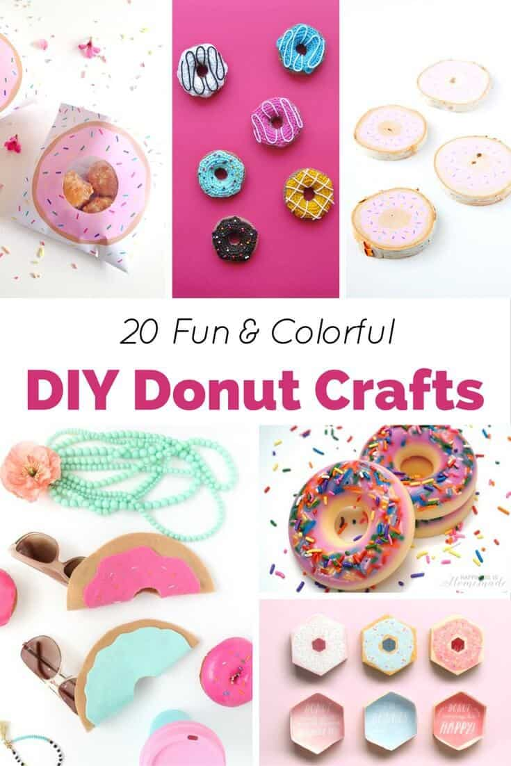 Who doesn't love donuts? They are sweet, tasty, and oh-so-cute! These 20 fun and colorful DIY donut crafts are fun to make and even look good enough to eat!