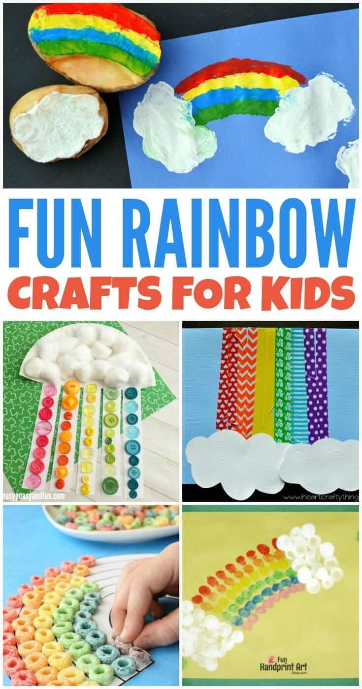 These fun rainbow crafts for kids are perfect to make for St. Patrick's Day, to celebrate the start of Spring, or for a colorful activity any time of year!