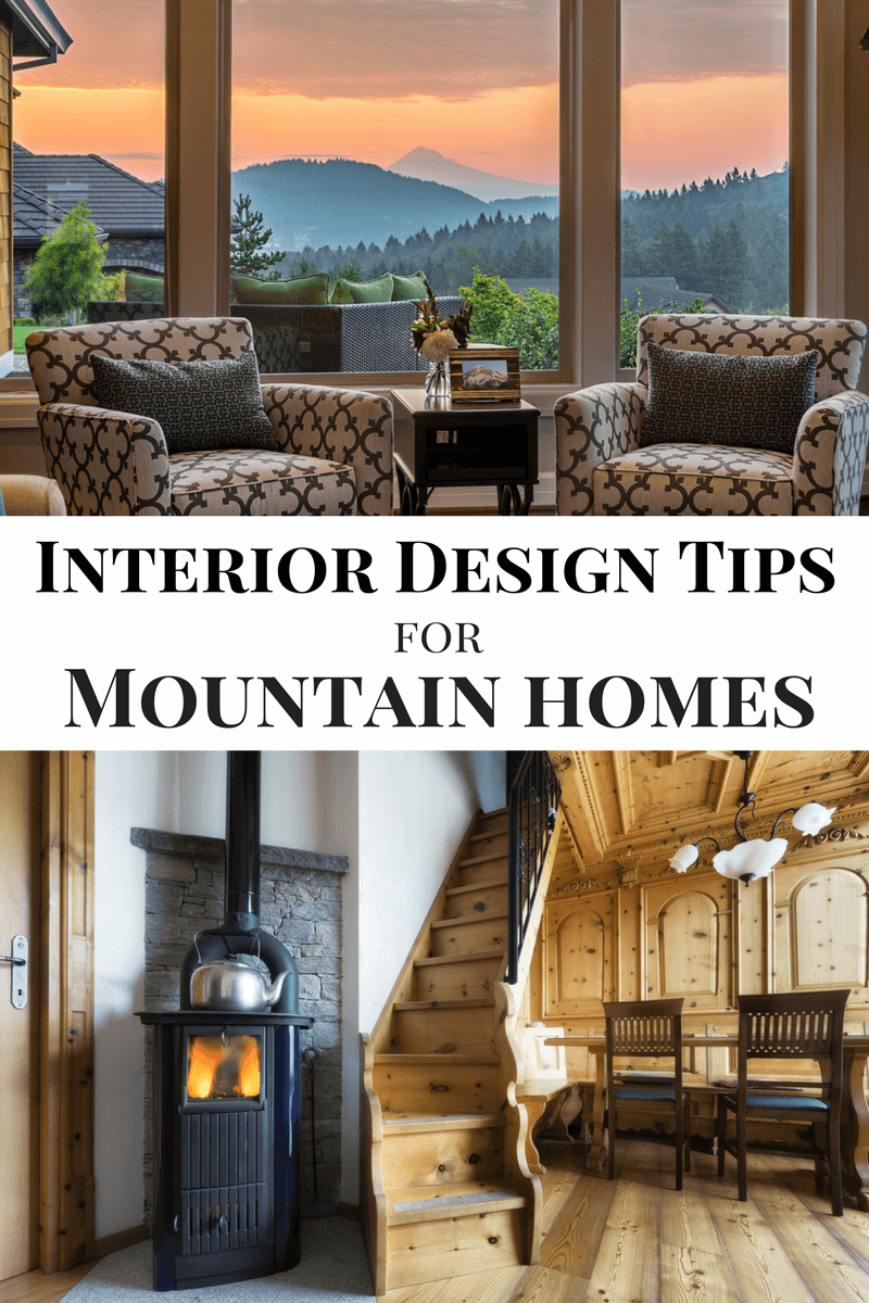 Here are some interior design elements that you can incorporate into your mountain home if you want to bring a little bit of what you love indoors.