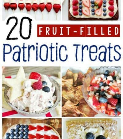 These fruit-filled patriotic recipes make the perfect 4th of July, Memorial Day, or Veteran's Day treat, as well as a refreshing treat any hot summer day.