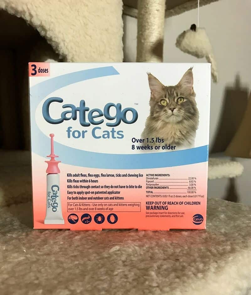 Catego™ powerful topical flea and tick control designed specifically for cats