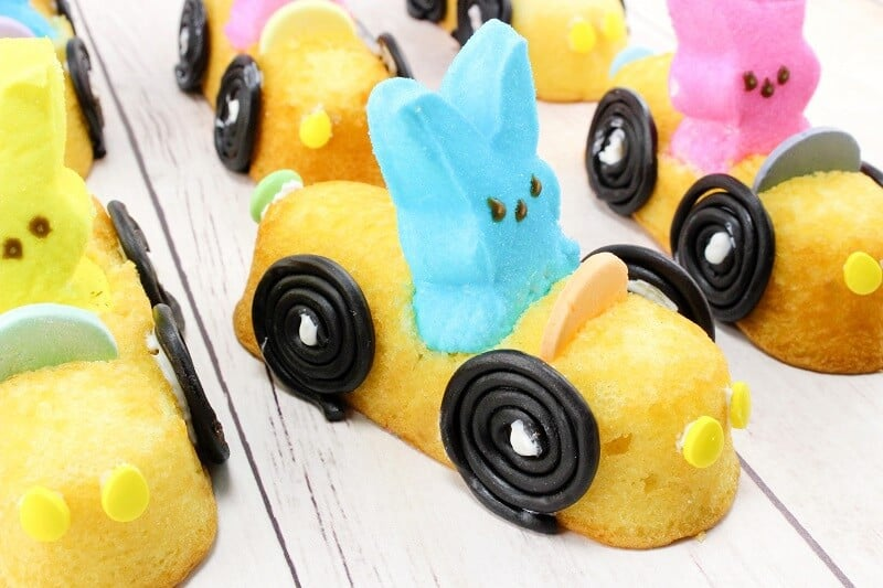 DIY Edible Easter Peeps Cars - With Step-By-Step Images and Instructions