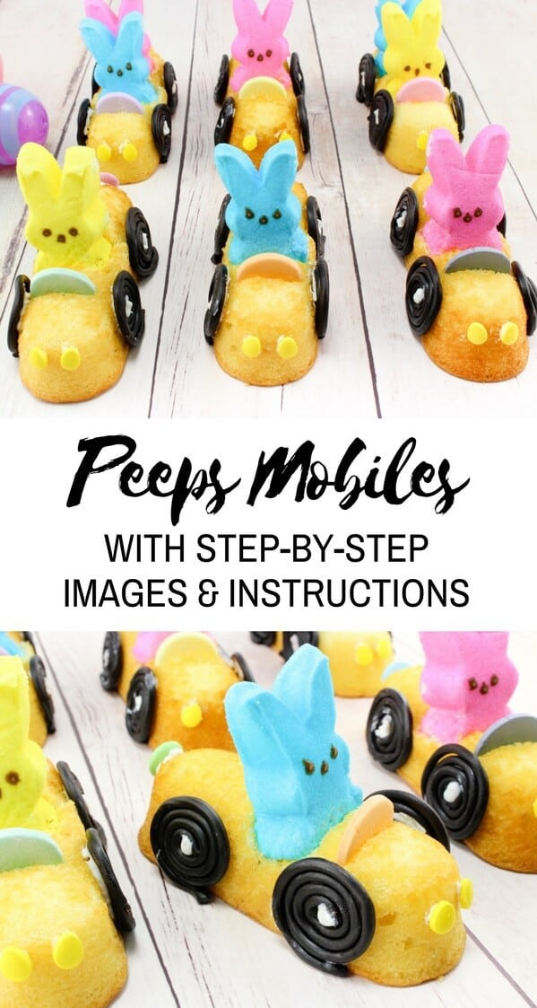 Peeps mobiles are sure to be the hit of your Easter party. Not only are they absolutely adorable, but they are delicious as well!