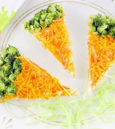 Easy Carrot-Shaped Veggie Pizza Bars