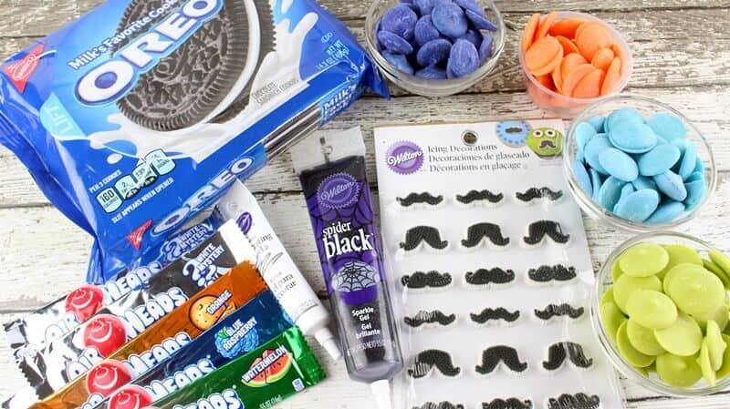 Father's Day Mustache and Tie Chocolate Covered Oreo Ingredients