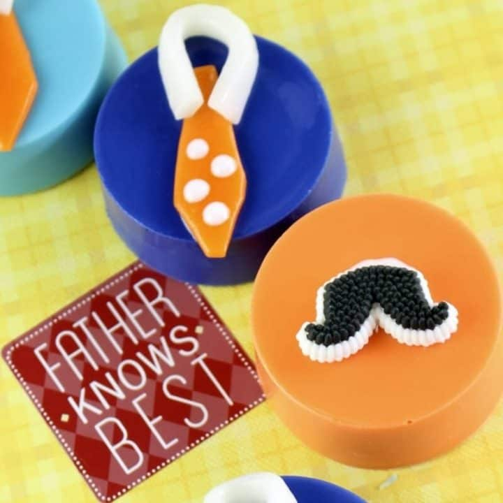 Father's Day Mustache and Tie Chocolate Covered Oreos Treat