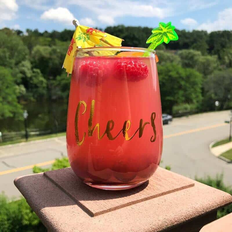 Cranberry Peach Bellini Mocktail