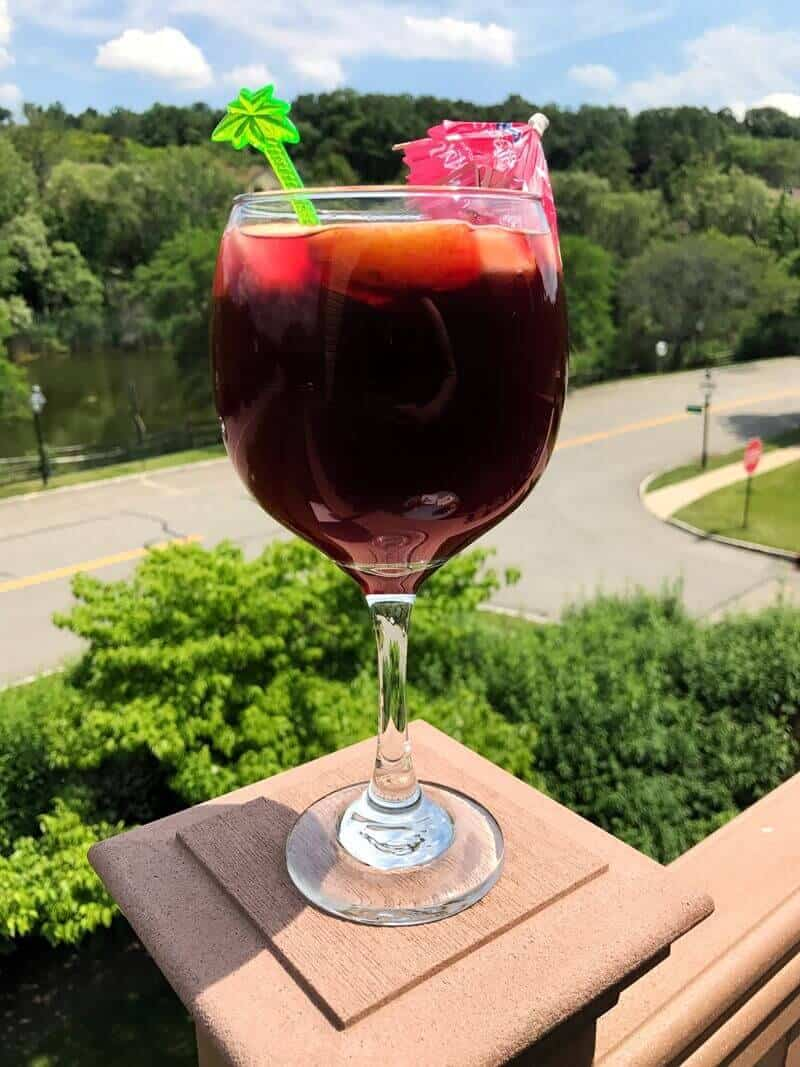 Cranberry Sangria Mocktail