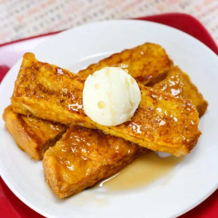 Seriously easy to make, and oh-so-very delicious, these pumpkin french toast sticks will be your favorite fall breakfast.