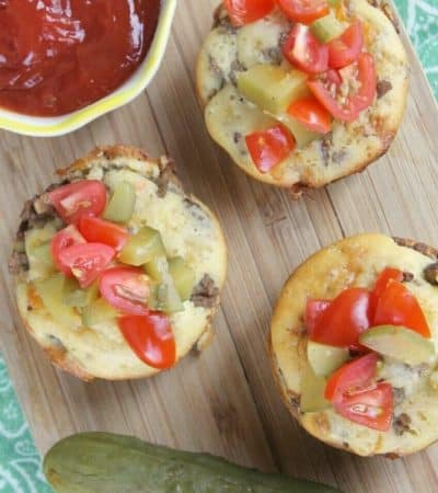 These Loaded Cheeseburger Muffins come together in minutes and make for a fun and kid-friendly lunch or dinner recipe perfect for busy families.