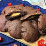 Ooey Gooey Rolo Stuffed Chocolate Cookies