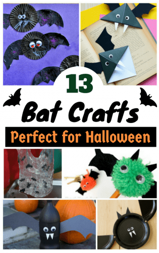 Looking for easy Halloween bat craft ideas? These 13 fun bat crafts are perfect for the classroom or to make with the kids at home.