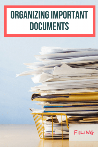 Spend some time organizing important documents all in one place so that if anything happens, you or your loved ones can get the information they need.