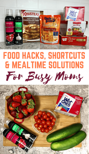 Today I am sharing my favorite food hacks, shortcuts and mealtime solutions for busy moms. Mom life is hectic, and these tips are a lifesaver.