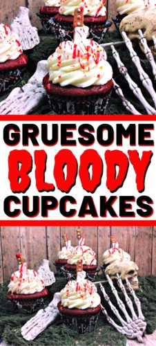 Gruesome Bloody Cupcakes