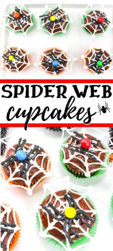 Halloween Spider Web Cupcakes