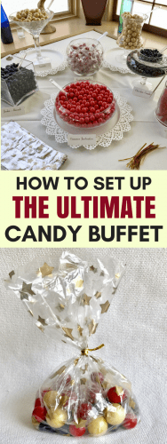Candy buffets are perfect for weddings, showers, birthday parties and more. These candy buffet ideas will help you set up the ultimate candy buffet!