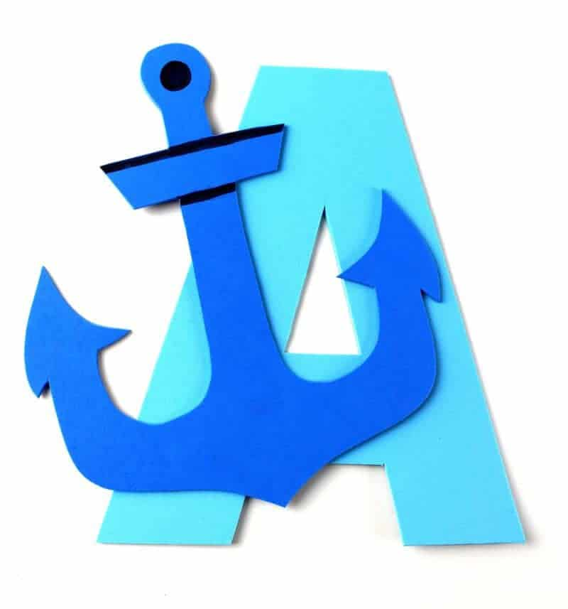 This letter A craft with printable template is part of our letter of the week craft series for toddlers and preschoolers. Letter A is for anchor.