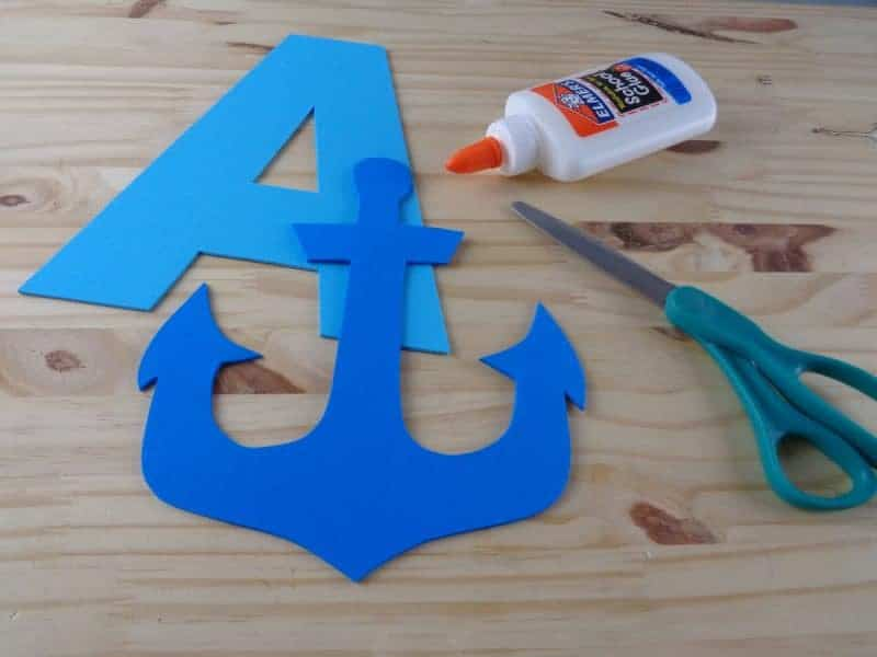 This letter A craft for toddlers and preschoolers with printable template is part of our new letter of the week craft series. Letter A is for anchor.